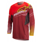 Alpinestars Cross Shirt 2017 Techstar Factory - Rood / Wit / Geel Fluo