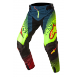 Alpinestars Crossbroek 2017 Techstar Factory - Petrol / Geel / Rood
