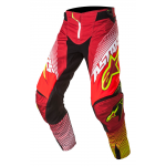Alpinestars Crossbroek 2017 Techstar Factory - Rood / Wit / Geel Fluo