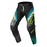 Alpinestars Crossbroek 2017 Techstar Factory - Zwart / Teal / Geel