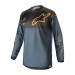 Alpinestars Cross Shirt 2018 Racer Aviator LE - Zwart / Navy / Goud