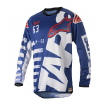 Alpinestars Cross Shirt 2018 Racer Braap - Blauw / Wit / Rood