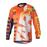 Alpinestars Cross Shirt 2018 Racer Braap - Oranje / Blauw / Wit