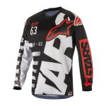 Alpinestars Cross Shirt 2018 Racer Braap - Zwart / Wit / Rood