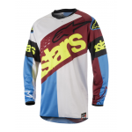 Alpinestars Cross Shirt 2018 Racer Flagship - Rio Rood / Aqua / Wit