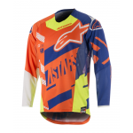 Alpinestars Cross Shirt 2018 Racer Screamer Jeugd - Oranje/Blauw/Wit