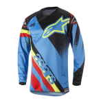 Alpinestars Cross Shirt 2018 Racer Supermatic - Aqua / Zwart / Rood