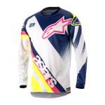 Alpinestars Cross Shirt 2018 Racer Supermatic Jeugd - Wit/Blauw/Geel