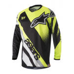 Alpinestars Cross Shirt 2018 Racer Supermatic - Zwart / Geel / Grijs
