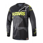 Alpinestars Cross Shirt 2018 Racer Tactical - Zwart / Geel Fluo