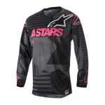 Alpinestars Cross Shirt 2018 Racer Tactical - Zwart / Pink Fluo