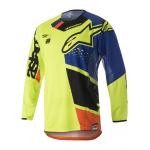 Alpinestars Cross Shirt 2018 Techstar Factory - Geel / Blauw / Zwart