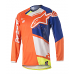 Alpinestars Cross Shirt 2018 Techstar Factory - Oranje / Blauw / Wit