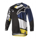 Alpinestars Cross Shirt 2018 Techstar Factory - Zwart / Blauw / Wit