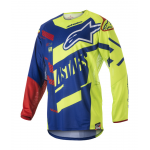 Alpinestars Cross Shirt 2018 Techstar Screamer - Blauw / Geel / Rood