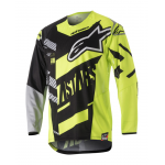 Alpinestars Cross Shirt 2018 Techstar Screamer - Zwart / Geel / Grijs