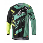 Alpinestars Cross Shirt 2018 Techstar Screamer - Zwart / Teal / Geel