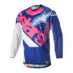 Alpinestars Cross Shirt 2018 Techstar Venom - Blauw / Roze / Wit