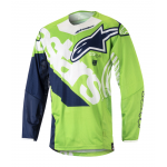 Alpinestars Cross Shirt 2018 Techstar Venom - Groen / Wit / Blauw