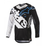 Alpinestars Cross Shirt 2018 Techstar Venom - Zwart / Wit / Aqua