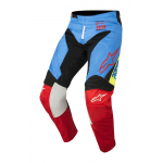 Alpinestars Crossbroek 2018 Racer Supermatic - Aqua / Zwart / Rood