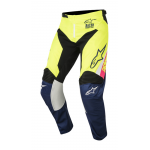 Alpinestars Crossbroek 2018 Racer Supermatic - Wit / Blauw / Geel