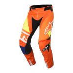 Alpinestars Crossbroek 2018 Techstar Factory - Oranje / Blauw / Wit
