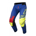 Alpinestars Crossbroek 2018 Techstar Screamer - Blauw / Geel / Rood