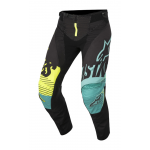 Alpinestars Crossbroek 2018 Techstar Screamer - Zwart / Teal / Geel