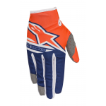 Alpinestars Crosshandschoenen 2018 Radar Flight - Oranje / Blauw / Wit