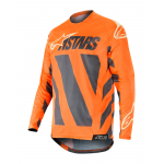 Alpinestars Cross Shirt 2019 Racer Braap - Antraciet / Oranje Fluo / Sand