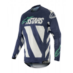 Alpinestars Cross Shirt 2019 Racer Braap - Grijs / Navy / Teal