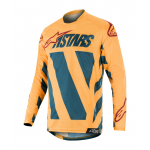 Alpinestars Cross Shirt 2019 Racer Braap - Petrol / Tan / Maroon