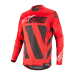Alpinestars Cross Shirt 2019 Racer Braap - Zwart / Rood / Wit