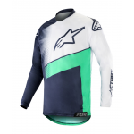 Alpinestars Cross Shirt 2019 Racer Supermatic - Navy / Teal / Wit