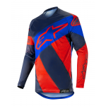 Alpinestars Cross Shirt 2019 Racer Tech Atomic - Rood / Navy / Blauw