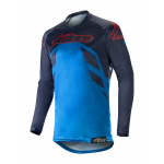 Alpinestars Cross Shirt 2019 Racer Tech Compass - Navy / Blauw / Burgundy