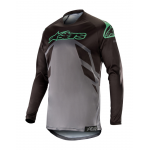 Alpinestars Cross Shirt 2019 Racer Tech Compass - Zwart / Mid Grijs / Teal