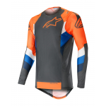 Alpinestars Cross Shirt 2019 Supertech - Antraciet / Oranje Fluo