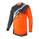 Alpinestars Cross Shirt 2019 Techstar Factory - Antraciet / Oranje Fluo