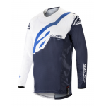 Alpinestars Cross Shirt 2019 Techstar Factory - Wit / Donker Navy