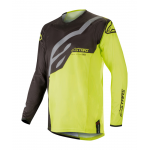 Alpinestars Cross Shirt 2019 Techstar Factory - Zwart / Geel Fluo