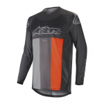 Alpinestars Cross Shirt 2019 Techstar Venom - Antraciet / Grijs / Oranje Fluo