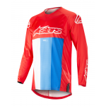 Alpinestars Cross Shirt 2019 Techstar Venom - Rood / Wit / Blauw