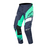 Alpinestars Crossbroek 2019 Racer Supermatic - Navy / Teal / Wit
