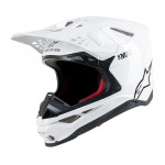 Alpinestars Crosshelm Supertech S-M10 Solid - Wit Glossy