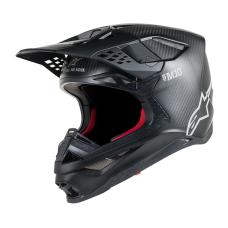 Alpinestars Crosshelm Supertech S-M10 Solid - Zwart / Matte Carbon