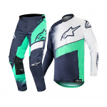 Alpinestars Crosskleding 2019 Racer Supermatic - Navy / Teal / Wit