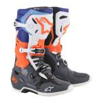 Alpinestars Crosslaarzen Tech 10 - Cool Grijs / Oranje Fluo / Blauw / Wit