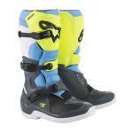 Alpinestars Crosslaarzen Tech 3 - Cool Grijs / Geel Fluo / Cyan